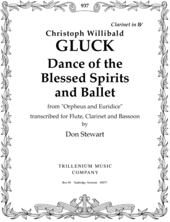 DANCE OF THE BLESSED SPIRITS & BALLET FROM ORPEHUS AND EURIDICE score & parts
