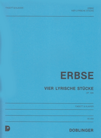 4 LYRISCHE STUCKE Op.39a