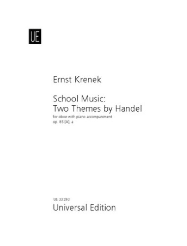 TWO THEMES BY HANDEL Op.85