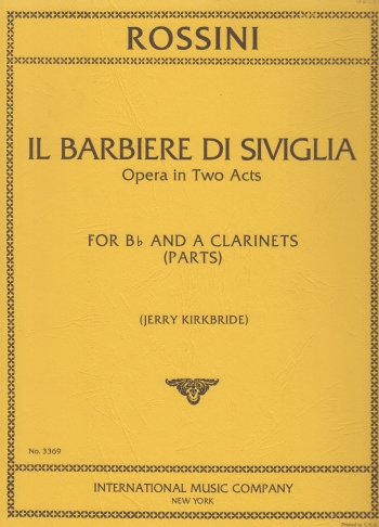 THE BARBER OF SEVILLE transposed clarinet parts