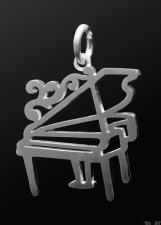 STERLING SILVER PENDANT Grand Piano