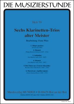 SIX CLARINET TRIOS (score & parts)