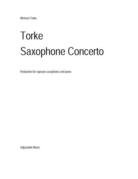 SAXOPHONE CONCERTO (1993)