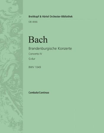 BRANDENBURG CONCERTO No.4 BWV1049 cembalo part