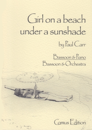 GIRL ON A BEACH UNDER A SUNSHADE