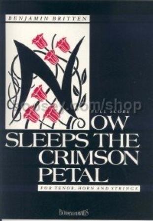 NOW SLEEPS THE CRIMSON PETAL Op.31 (score & horn part)