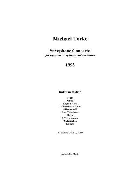 SAXOPHONE CONCERTO (1993) full score