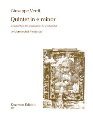 QUINTET in E minor score & parts