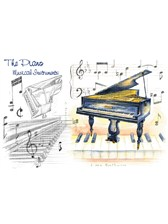 GREETINGS CARD Piano Design (7in x 5in)