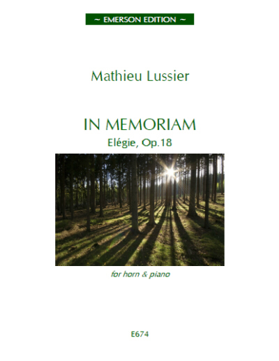 IN MEMORIAM Elegie Op.18 - Digital Edition