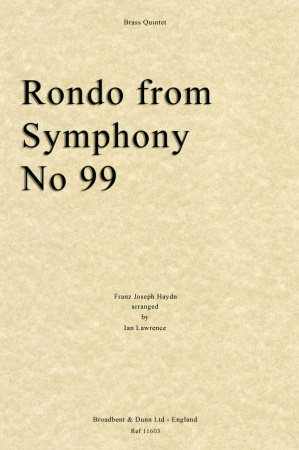 RONDO from Symphony No.99 (score & parts)
