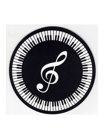 MOUSE MAT Treble Clef and Keyboard Design
