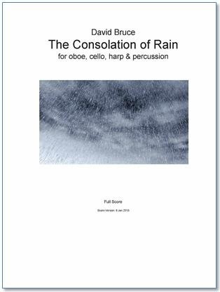 THE CONSOLATION OF RAIN (score & parts)