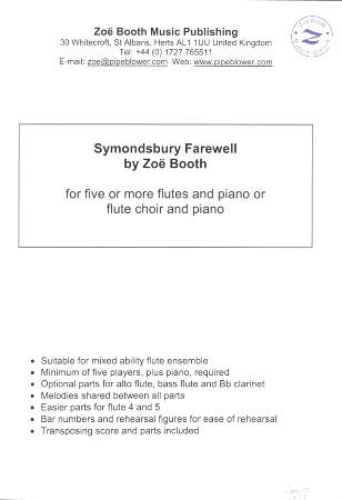 SYMONDSBURY FAREWELL score & parts