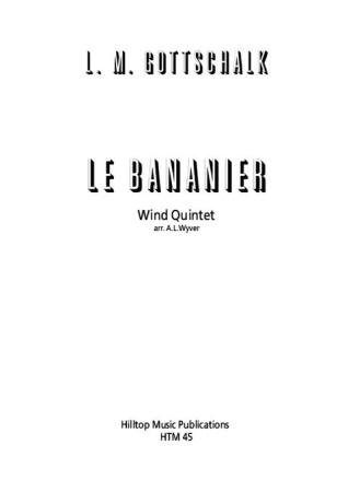 LE BANANIER (score & parts)