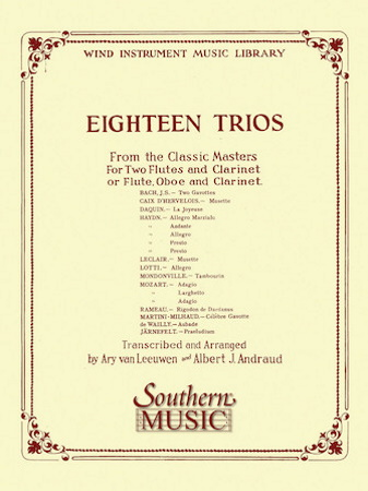 EIGHTEEN TRIOS from the Classic Masters (score & parts)