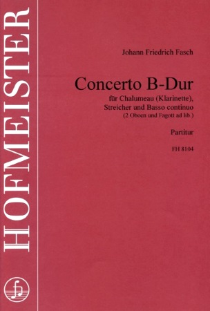 CONCERTO in Bb score & parts (no clarinet part is included)
