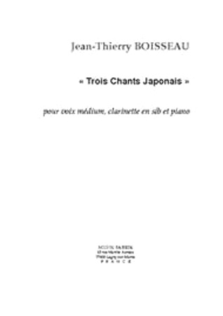 3 CHANTS JAPONAIS