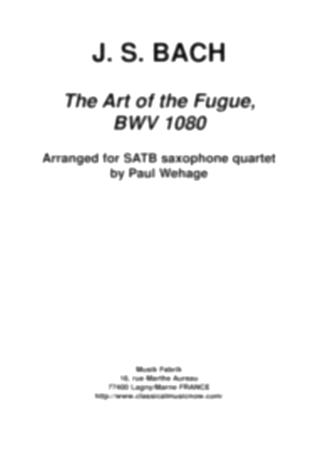 THE ART OF FUGUE BWV1080 (score & parts)