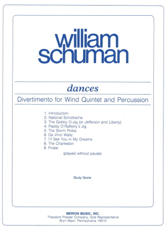 DANCES Divertimento study score