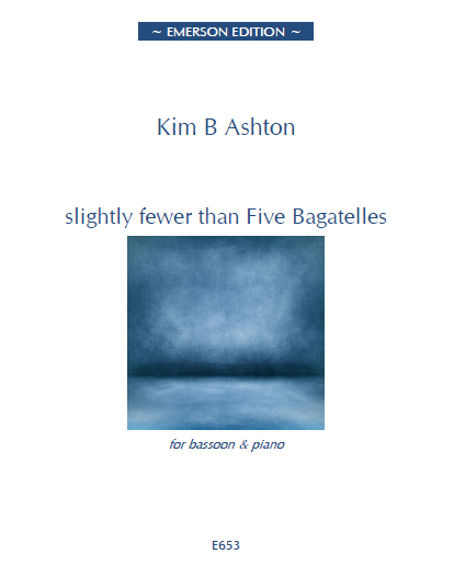 slightly fewer than FIVE BAGATELLES - Digital Edition