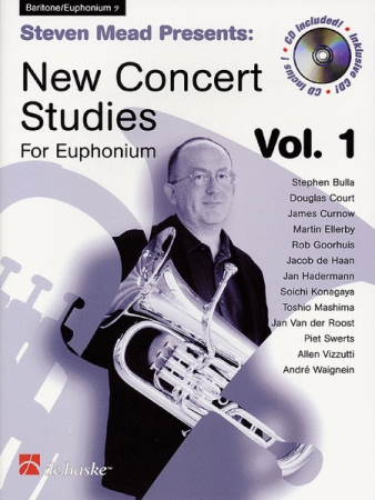 NEW CONCERT STUDIES FOR EUPHONIUM Volume 1 + CD (bass clef)