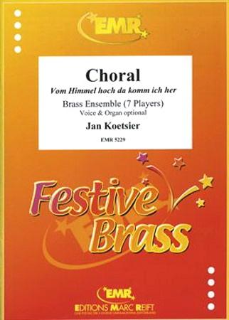VON HIMMEL HOCH DA KOMM ICH HER Chorale (in German)