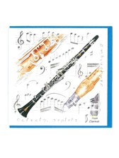 NOTELETS Clarinet Design (Pack of 5)