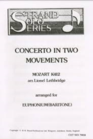 CONCERTO IN TWO MOVEMENTS K412 (treble & bass clef)