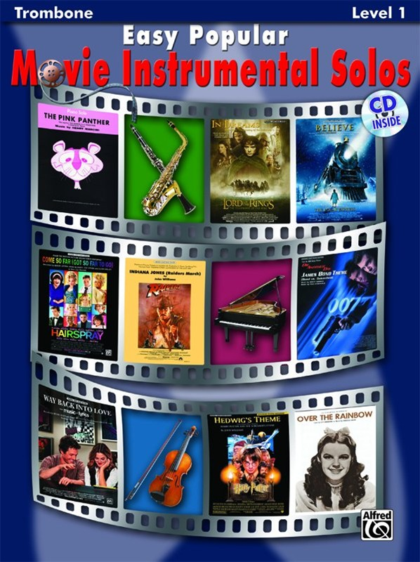 MOVIE INSTRUMENTAL SOLOS + CD (bass clef)