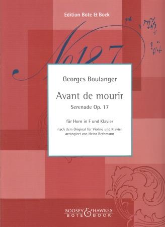 AVANT DE MOURIR Serenade Op.17