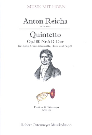 QUINTET Op.100 No.6 in Bb major (score & parts)