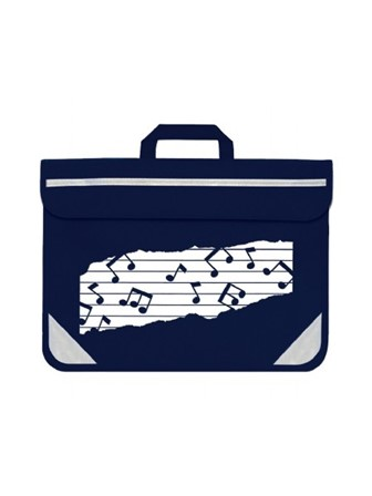 MUSIC BAG DUO Music Notes (Navy)