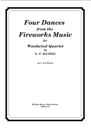 FOUR DANCES from the Fireworks Music (score & parts)