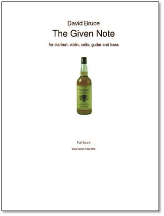 THE GIVEN NOTE score & parts