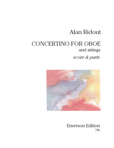 CONCERTINO FOR OBOE set of parts