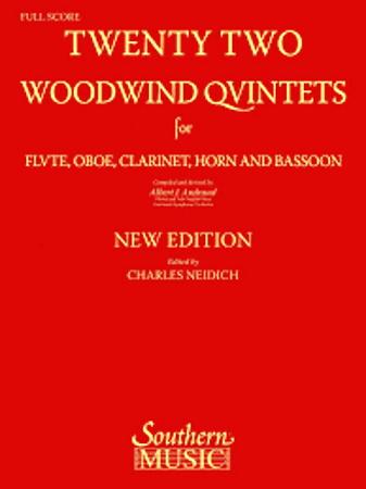 22 WOODWIND QUINTETS (set of parts)