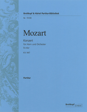 HORN CONCERTO No.3 in Eb major K. 447 (Urtext) Score