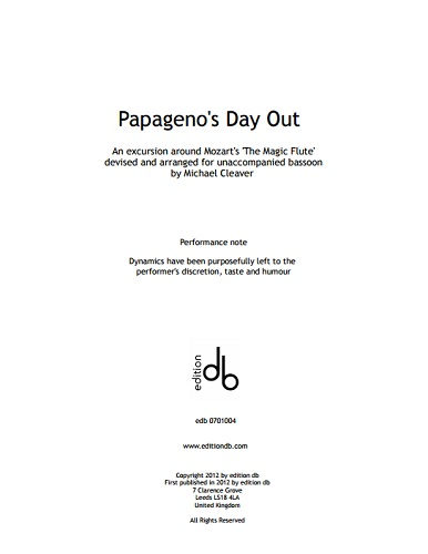 PAPAGENO'S DAY OUT