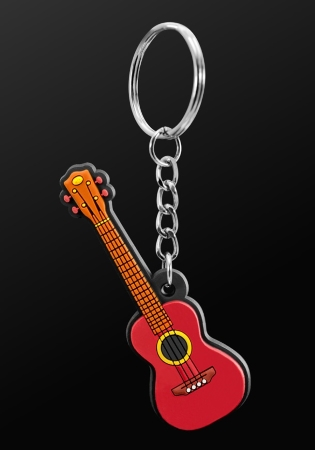 INSTRUMENT KEYRING Ukulele (Brown)