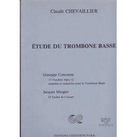 ETUDES DU TROMBONE BASSE