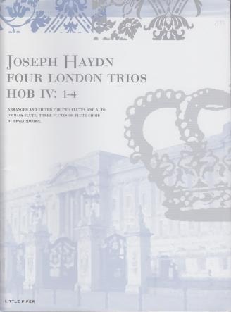 FOUR LONDON TRIOS Hob IV: 1-4 (score & parts)