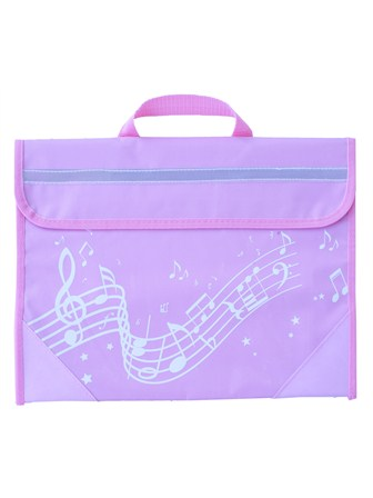 MUSIC BAG Wavy Stave (Pink)