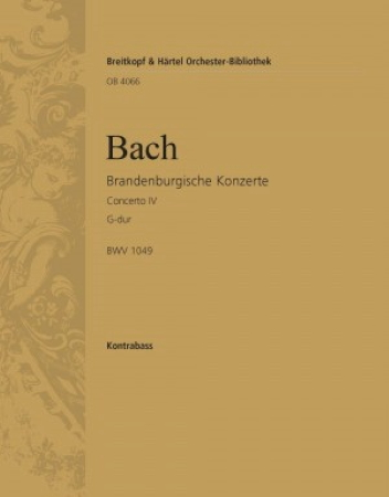 BRANDENBURG CONCERTO No.4 bass part