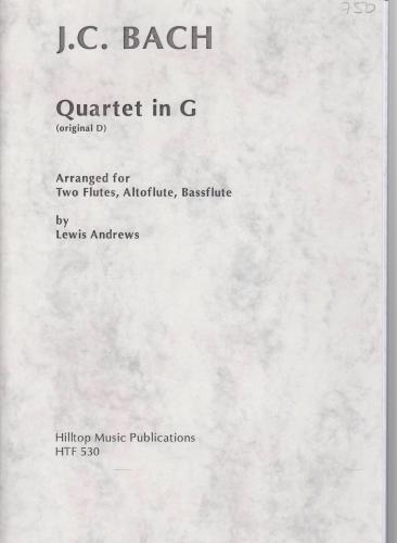QUARTET in G (original in D)