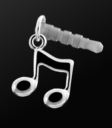 EARPHONE PLUG Quavers Silver