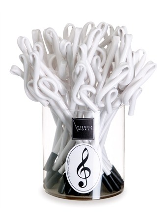 PEN BOX Treble Clef (White - Box of 30)