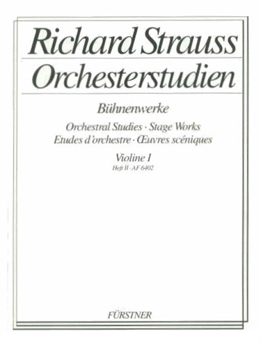 ORCHESTRAL STUDIES Volume 1 Stage Works