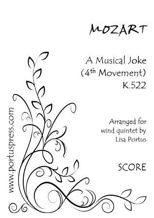 A MUSICAL JOKE 4th Movement, K522 (score & parts)