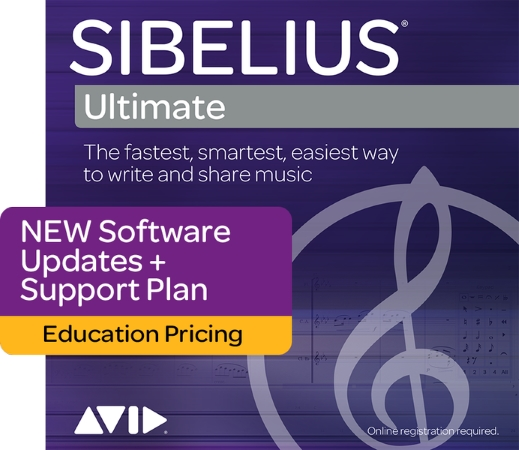 SIBELIUS Ultimate New Support Plan: 1 year of Support and Updates - Student/Teacher (Boxed)